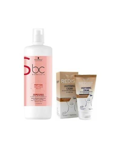 Bonacure Peptide Repair Deep Acil Kurtarma şampuan 1000 ml+Lightening Cilt Beyazlatıcı Krem 75 ml Renksiz